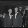 Jack Gilford and Mike Nichols at the opening night of stage production Cabaret