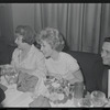 Ethel Merman [left center] and unidentified others at the opening night of stage production Cabaret