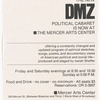 "Flier for ""The New DMZ"" at Mercer Arts"