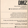 Window card for The New DMZ at The Mercer Arts Center