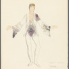 Brahms Quintet: costume design for Gayle Young and [Clark] Tippet (2nd movement)