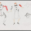 Busker Medley: costume sketches for Charlie and Libby