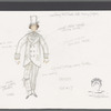 Busker Alley: costume sketch and related notes for Arthur, SK #17