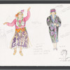"Busker Alley: costume sketches for Gladys (Marcia Lewis), ""Ula Love Song"", SK #3"