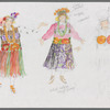 """Busker Alley: costume sketches for Gladys (Marcia Lewis), """"Ula Love Song"""", SK #3"""