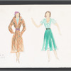 Busker Alley: costume sketches and fabric swatch for Libby, SK #4
