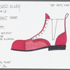 Busker Alley: costume and photocopied shoe sketches for Charlie Baxter (Tommy Tune), SK #14
