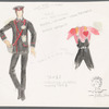 Busker Alley: costume sketches for Conductor uniform, Charlie (Tommy Tune), SK# 21