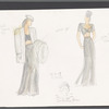 Busker Alley: costume sketches for Elaine and Claire, SK# 19