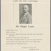"""Sir Hugh Lane: Lost on the Lusitania"": Broadside advertising search for Hugh Lane's body after the sinking of the Lusitania on May 7, 1915"