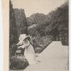 Frances Hodgson Burnett in her English garden