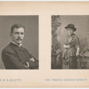 Photographic portraits of William Gillette and Frances Hodgson Burnett as published in unknown publication
