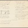 Choreographic notes for Theatre Piece for Chairs and Ladders (1965), recorded on the verso of a poster for a 1978 Economics of Dance seminar