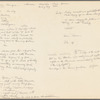 Choreographic notes for Energy Changes (1973), recorded on the verso of a poster for a 1978 Economics of Dance seminar