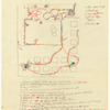 Choreographic notes for an unidentified work, possibly Fantastic Gardens