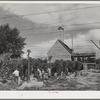 Hop pickers and kiln. Yakima County, Washington