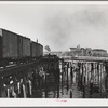 On the harbor of Astoria, Oregon. Shipping by rail and water is centered on fish, vitamin products, lumber and grain