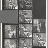 George Balanchine, Maria Tallchief, Andre Eglevsky, Newbold Morris and others backstage after Capriccio Brillante