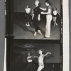 Andre Eglevsky, rehearsing at SAB with George Balanchine, Maria Tallchief, Jillana, Irene Larsson, Barbara Bocher and Constance Garfield.