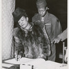 Attorney Ruth Whitehead Whaley registering at a voting site during the 1948 General Election