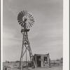 Windmill and milk-house of the Bosley reorganization unit. Baca County, Colorado