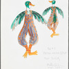Peter and the Wolf: costume design for the Duck, SK #3