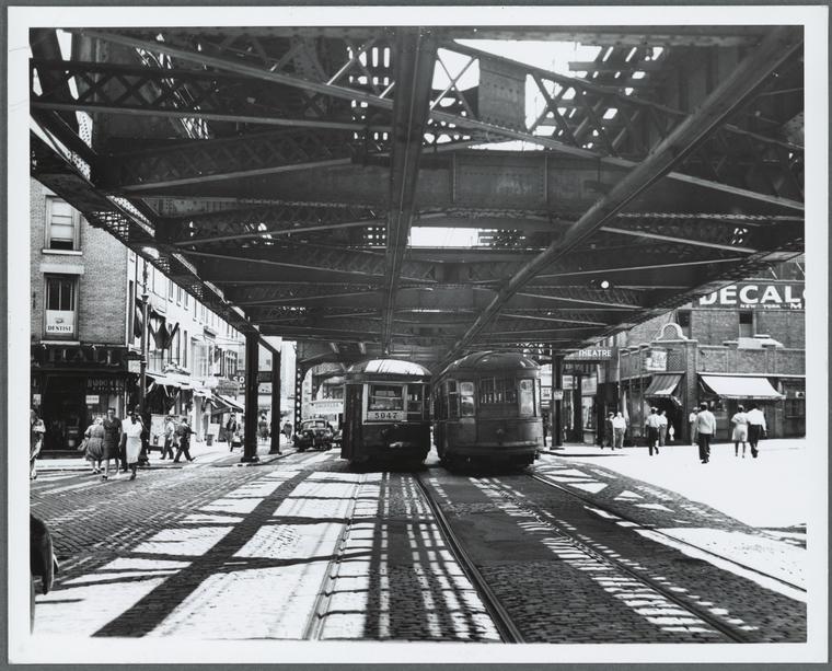 This is What Max Henry Hubacher and The Myrtle Avenue El in Brooklyn N.Y Looked Like  on 8/13/1945