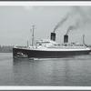 The Ile de France leaving New York