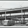 Streetcars and structure of the subway (BMT) in Coney Island