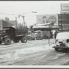 Snow removal at Flatbush Avenue in front of the Long Island R.R. station, Brooklyn, N.Y.