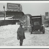 Snow removal in front of the Flatbush Ave. station in Brooklyn, N.Y.