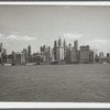 View of lower Manhattan from a Central Railroad of New Jersey ferry