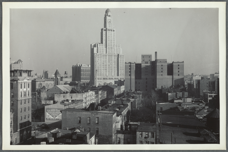 This is What Max Henry Hubacher and View from the roof of the Ex-Lax building Brooklyn 17 NY Looked Like  on 1/31/1945
