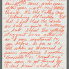 Letter from Dudley Williams to Alvin Ailey discussing artistic differences and direction