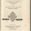 Ioannis Antonij Sicci De optimo medico: caput primum libri primi De antiqua medicina ejusdem auctoris