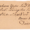 Swart, Dirck, addressed to Abraham Yates Junr, Esqr. at Albany