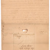 Werth, Johann Jacob, addressed to Mstr. Abraham Yates, Sheriff lieving [living] in Albany
