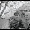 Tanaquil Le Clercq and Martha Swope sitting in the garden at Karinska's house in Domremy