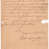 Livingston, Robert, Junr., addressed to Abraham Yetts [Yates] Esqr. at Albany