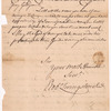 Livingston, Robert, Junr., addressed to Abraham Yates Esqr., High Sheriff for the City and County of Albany