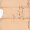 Cobham, William addressed to Abraham Yates Esq. at Albany