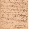 Livingston, Robert, Junr., addressed to Mr. Abraham Yates Junr. Merchant in Albany