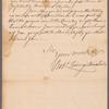 Livingston, Robert, Junr., addressed to Abraham Yates Junr. Esqr. at Albany
