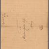 Livingston, Robert, Junr., addressed to Abraham Yates Esq. in Albany