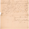 Livingston, Robert, Junr., addressed to Abraham Yates Esqr., Attorney at Law in Albany
