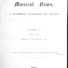 Musical news, Vol. 1, Index, March to December, 1891