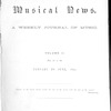 Musical news, Vol. 2, Index, January to June, 1892