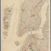 The lower end of Manhattan Island, as far north as Central Park, also the East River shorefront of Brooklyn, Williamsburg, and Greenpoint, and the New Jersey shoreline of Jersey City and Hoboken, Map VIII A