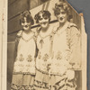 Photograph of Marion Davies and two unidentified chorus members in costume during the stage production Chin-Chin