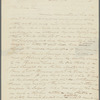 Letter from Thomas Cole